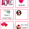 Valentine's Lunchbox Notes