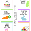 Easter Lunchbox Notes - Free Printable
