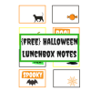 Halloween Lunchbox Notes: Free Printable
