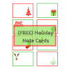 Holiday Note Cards: Free Printable