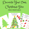 Decorate Your Own Christmas Tree: Free Printable