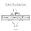 Turkey Coloring Page: Free Printable