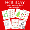 Holiday Kids Activity Pack