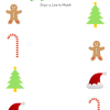 Holiday Draw a Line: Free Printable