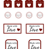 Made with Love Gift Tags: Free Printable