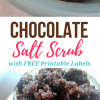 Chocolate Salt Scrub
