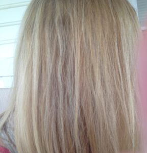 side pic of haircolor 5 weeks after