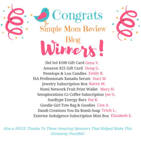 Blog Anniversary Giveaway Winners (1)