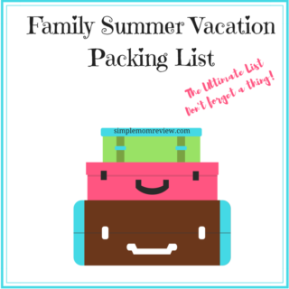 Family Summer Vacation Packing List