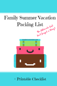 Family Vacation Checklist