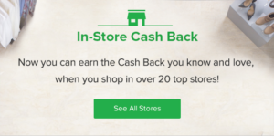 in store cash back