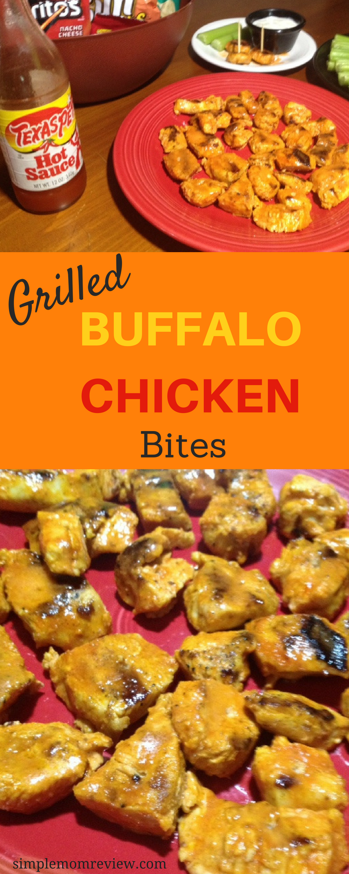 Grilled buffalo chicken bites (4)