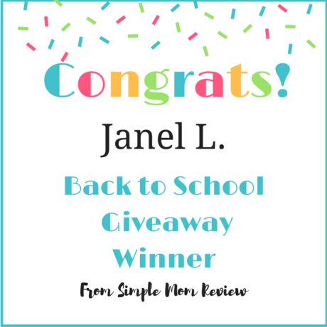 congrats back to school winner