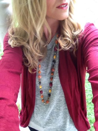 stitch fix burgundy and cardigan