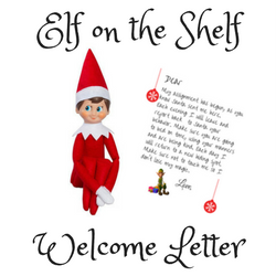 This is a picture of Bewitching Elf on the Shelf Welcome Back Letter Printable