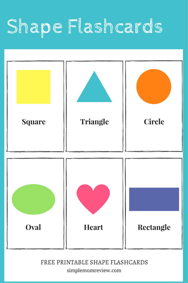 Légend image with printable shape flashcards