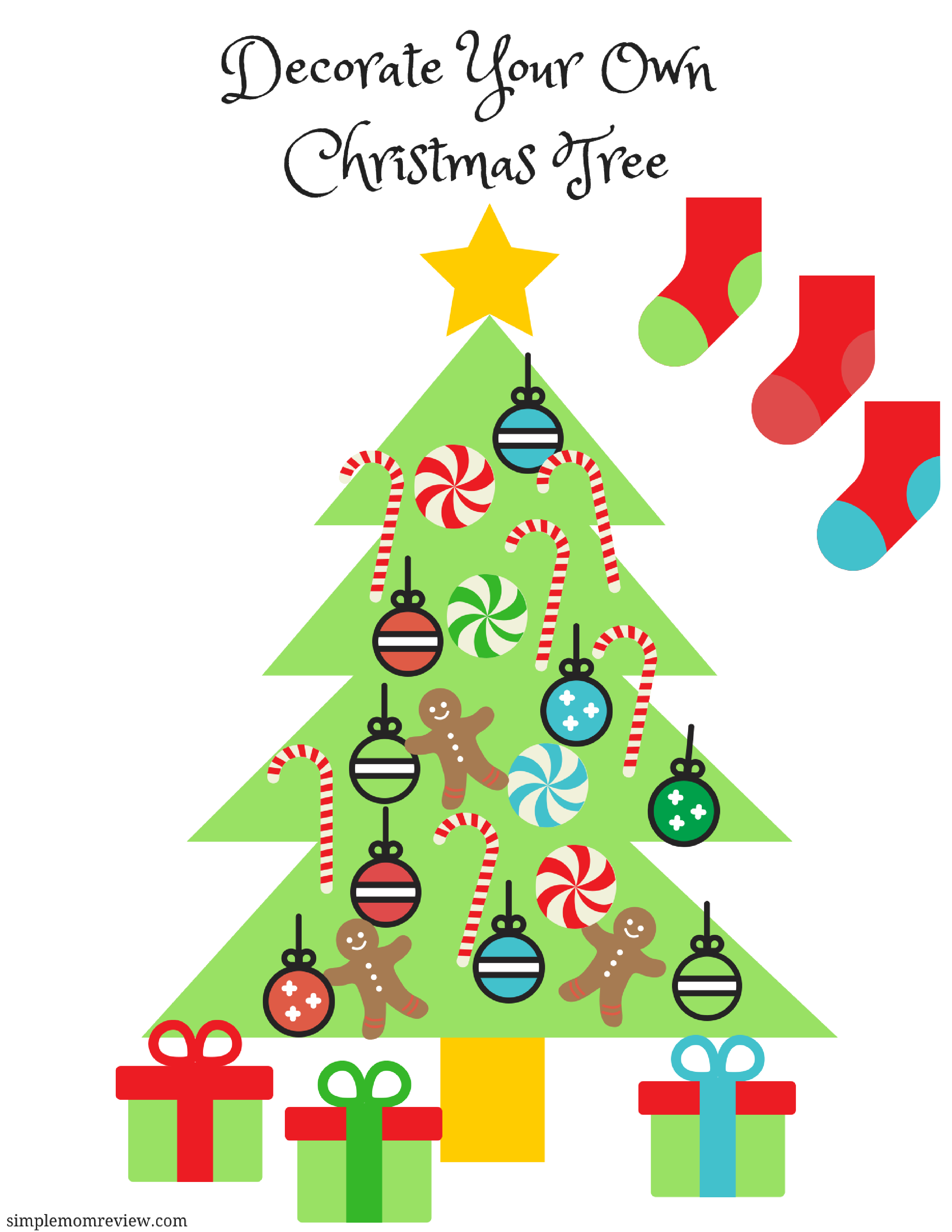 It is a photo of Revered Printable Christmas Tree