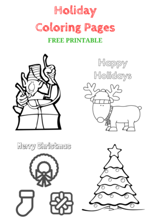 holiday coloring pages free printable - Holiday Coloring Pictures To Print