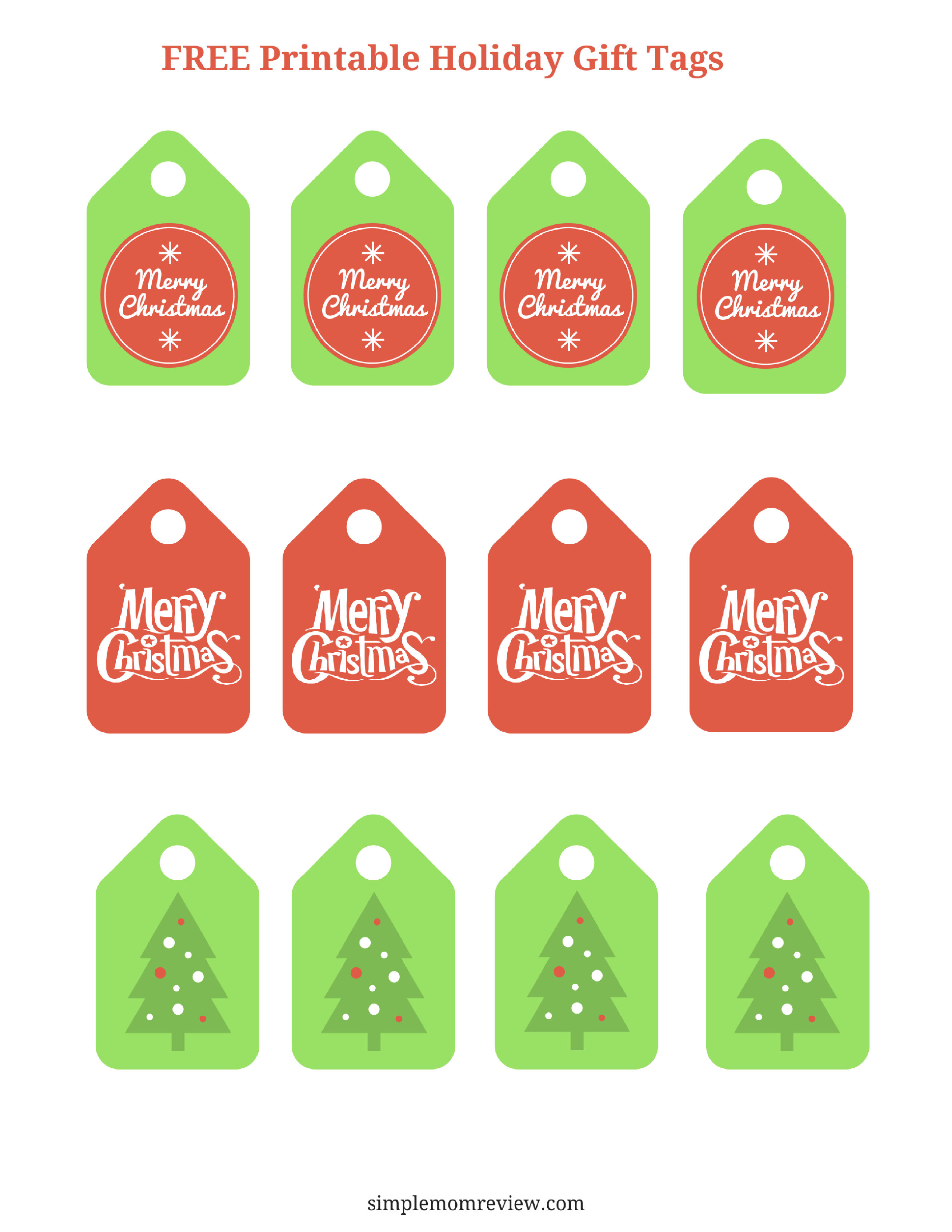 This is a photo of Transformative Merry Christmas Tags Free Printable