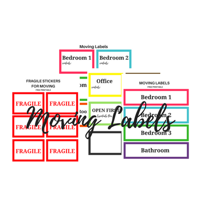 photo relating to Printable Moving Labels identify Going Labels: Absolutely free Printable - Easy Mother Critique